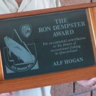 Ron Dempster award for services to recreational fishing